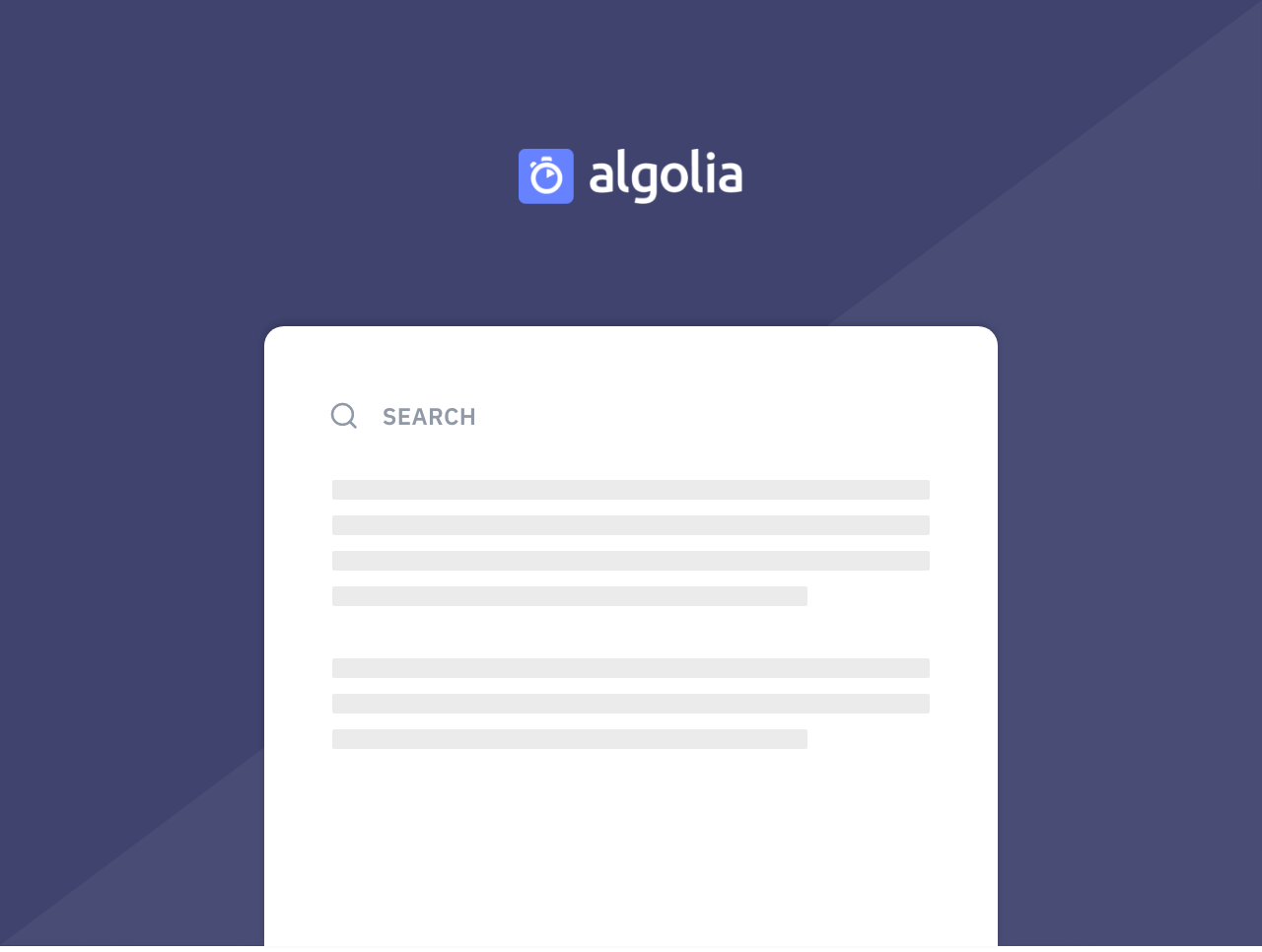 Build a Smart Search Form with Algolia thumbnail